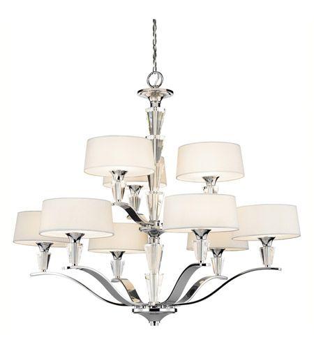 Kichler 42031CH Crystal Persuasion 9 Light 37 Inch Chrome Chandelier  Ceiling Light #LightingNewYork