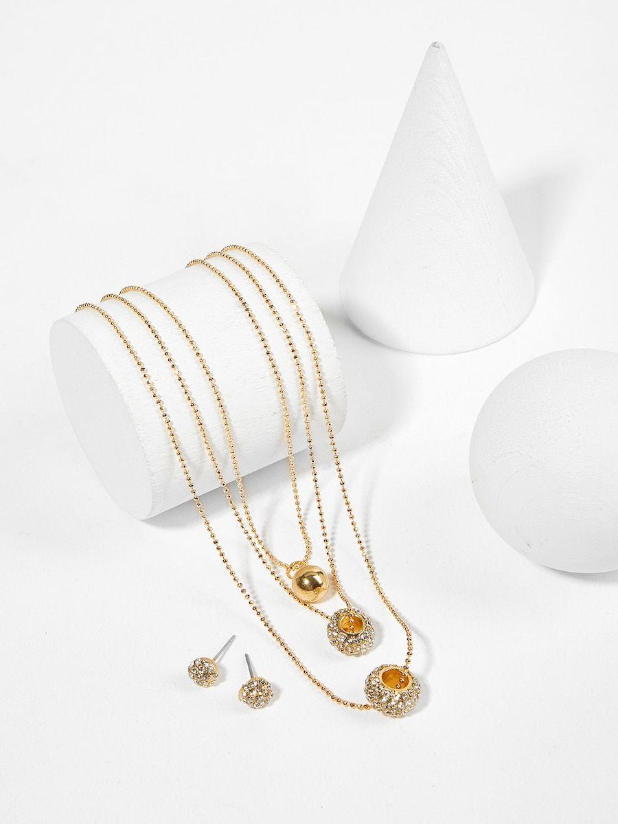 57c2eec2d1 Flower Necklace & Earrings & Bracelet & Ring Set in 2019 | Trending Fashion  Jewelry 2019 | Anklet | Earring | Necklace | Bracelet | Ring | Earrings,  Ring ...