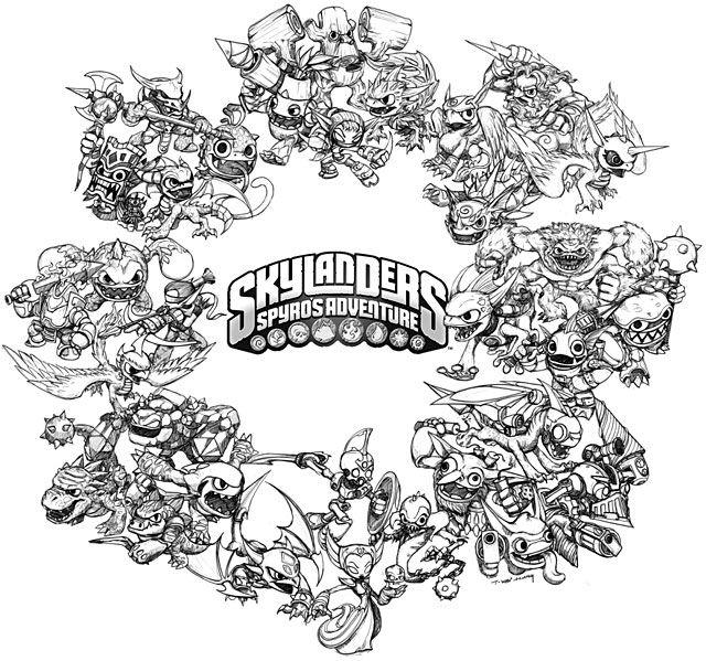 A Skylanders Coloring Page! | Skylanders | Pinterest | Skylanders ...