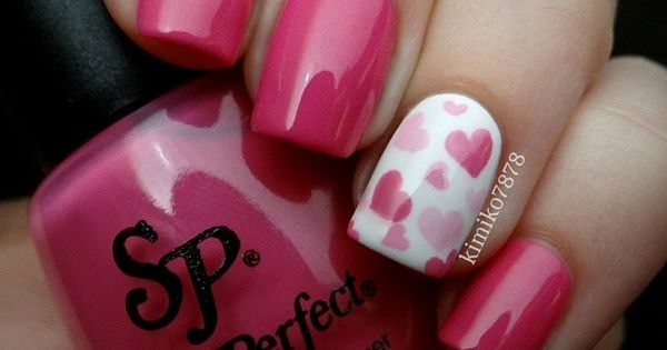 36 Cute Nail Art Designs for Valentine's Day - 36 Cute Nail Art Designs For Valentine's Day Hair Make Up And Make Up