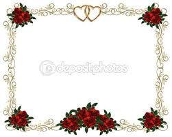 Resultado de imagem para moldura de rosas em preto e branco