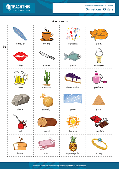Sense Verbs And Adjectives Adjectives Verbs Adjectives Verbs Esl