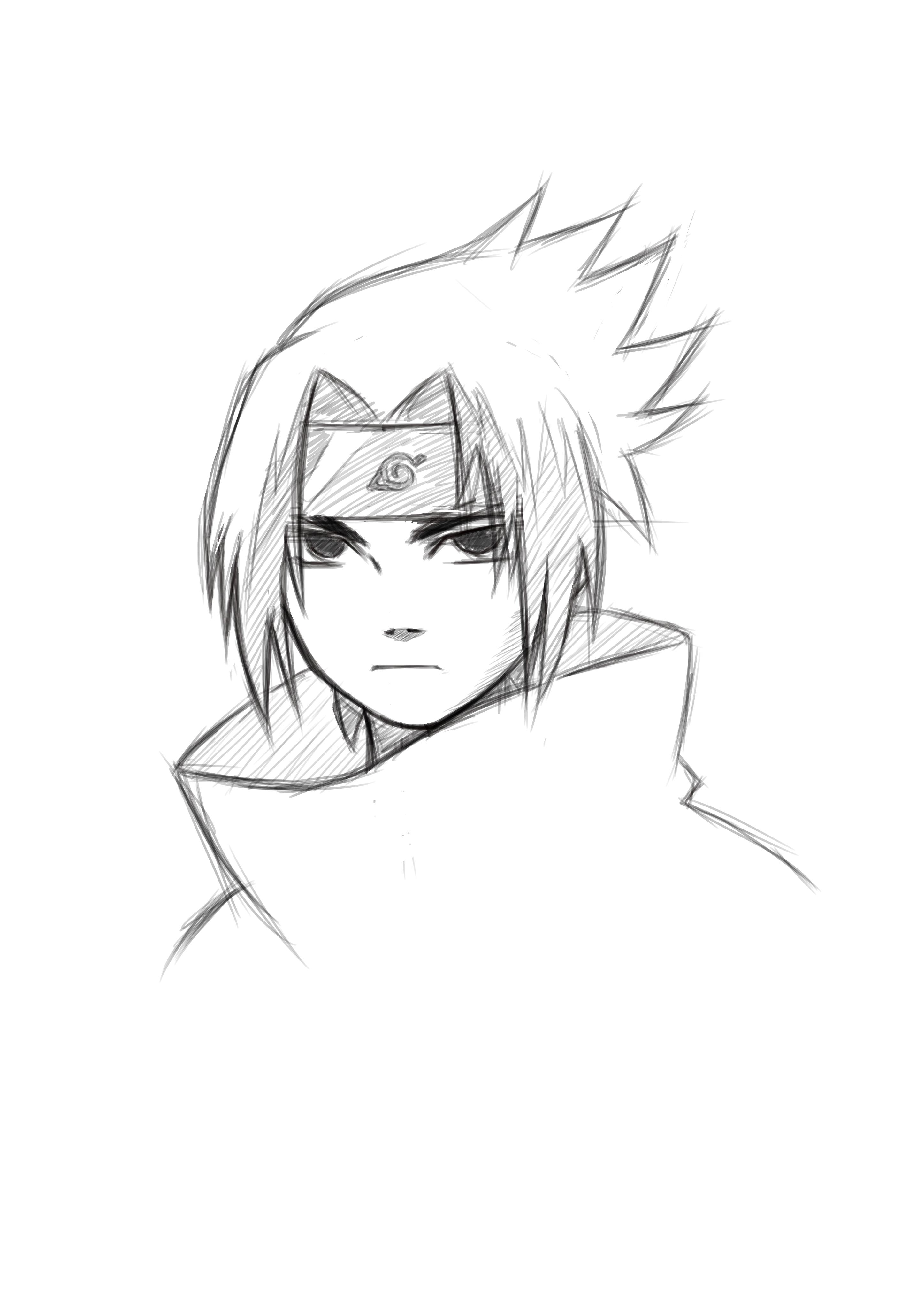 Sasuke Draw Com Imagens Desenhos De Rostos Memes De Desenhos