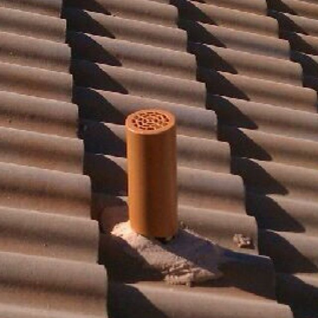 These Plumbing Vent Covers Are Painted To Blend In With Your Roof They Are Used To Prevent Rats From Going Down The Plumbing Vent Plumbing Drawing Vent Covers