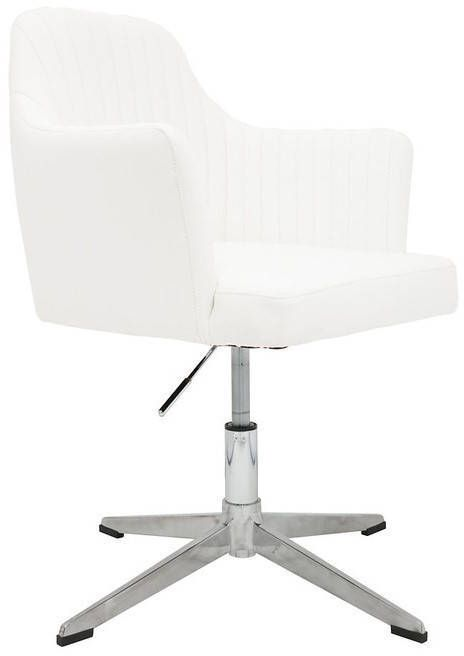 Awesome White Swivel Vanity Stool