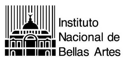 INBA (Instituto Nacional de Bellas Artes) creado para promover y desarrollar la cultura y las artes en la poblacion mexicana