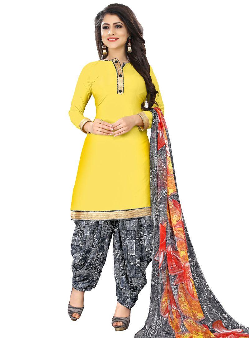 685219046c Yellow Leon Patiala Suit 118075   Patiala Salwar Kameez   Patiala ...