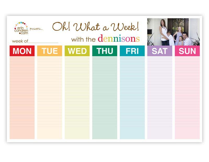 Homeschooling Gift Guide Weekly schedule, Erin condren and Weekly