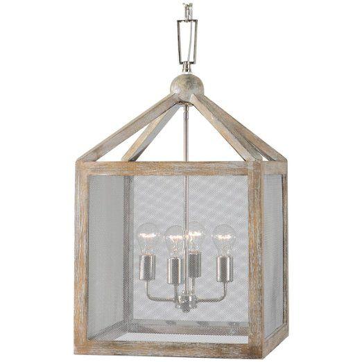 Uttermost 22050 Nashua 4 Light Wooden Lantern Pendant
