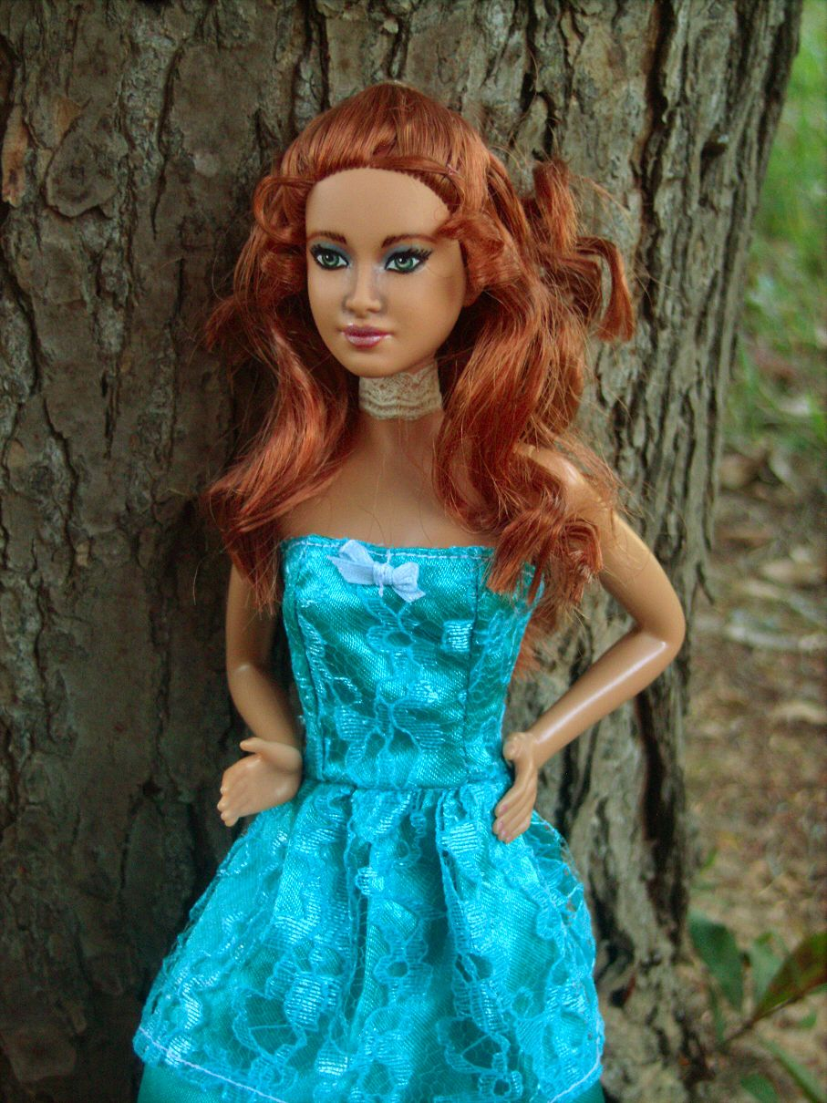 foxface in interview dress repainted barbie doll and