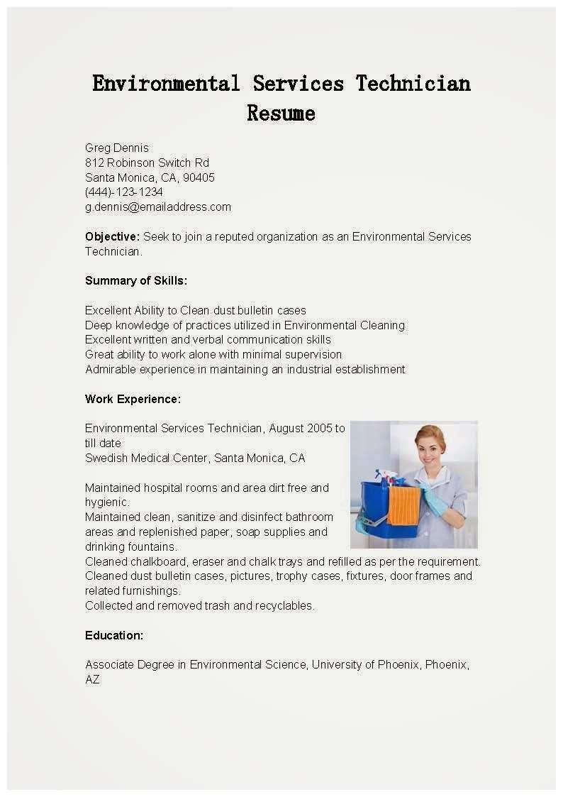 Behavioral Technician Resume Sample Lovely 79 Admirably Ideas Environmental Services Resume In 2020 Medical Assistant Resume Resume Resume Examples