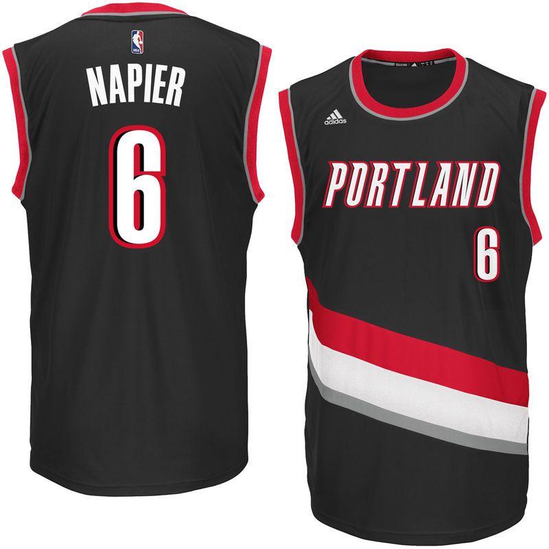 85a17a9e3 Shabazz Napier Portland Trail Blazers adidas Replica Road Jersey - Black