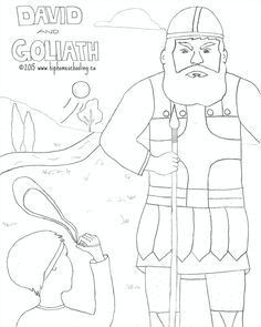 David and Goliath free coloring sheet and lesson plan David and