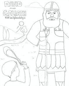 David And Goliath Free Coloring Sheet And Lesson Plan Free Coloring Sheets Free Coloring Coloring Sheets