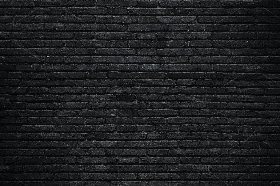 Black Brick Wall Black Brick Wall Black Brick Brick Wall Background