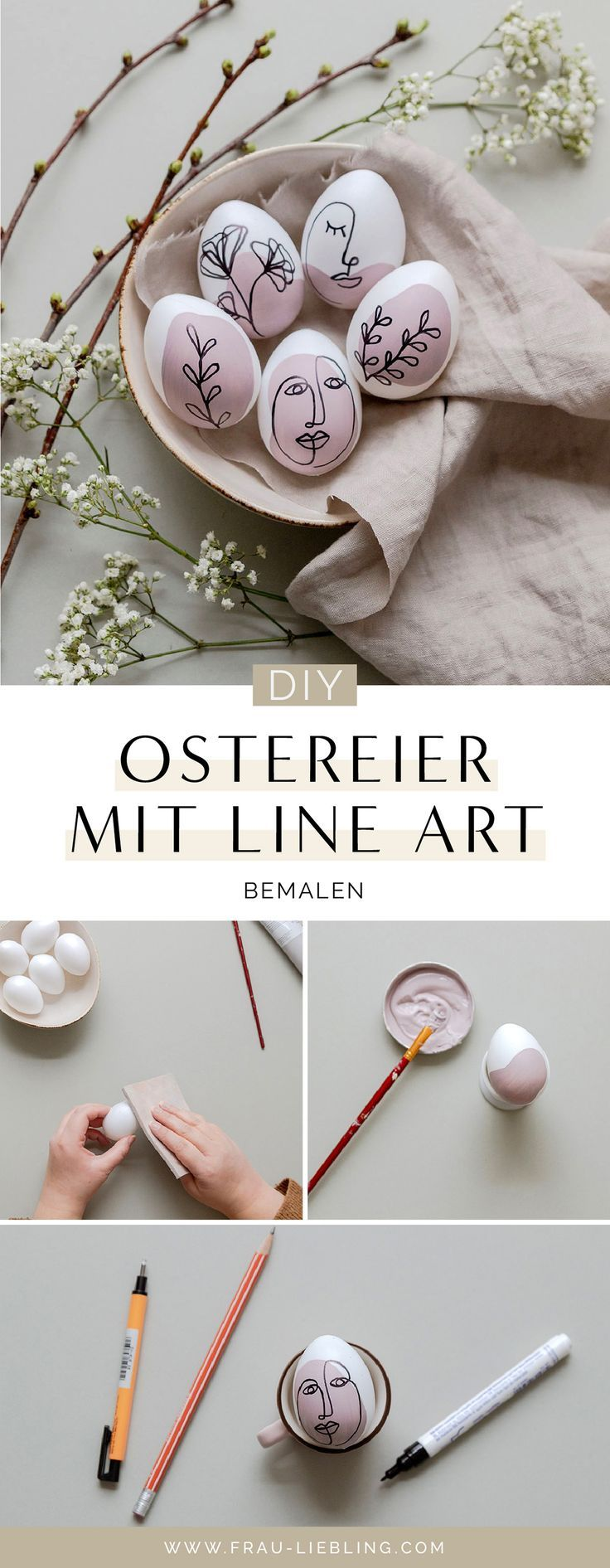 Photo of Ostereier bemalen mit Line Art und Oneline Illustrationen #DIY