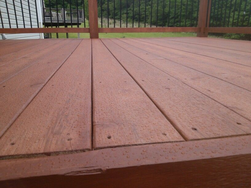 cedar deck after the waterproofing performance of sherwin