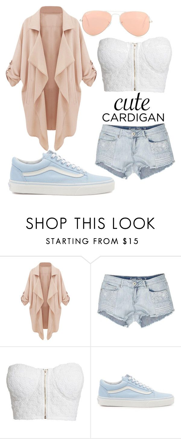 """""""Untitled #22"""" by jade-stryker ❤ liked on Polyvore featuring NLY Trend, Vans, Ray-Ban, cutecardigan and springlayers"""