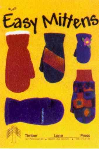 Free fleece patterns   Easy Mittens Fleece Pattern - Sewing Pattern ...