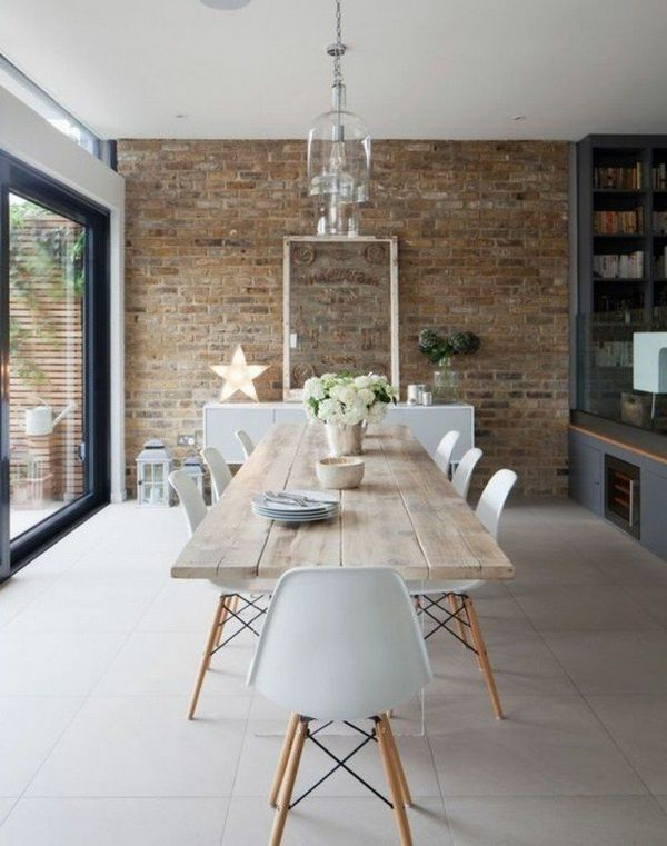 modern minimalist décor interior with brick walls | papel decorativo ...