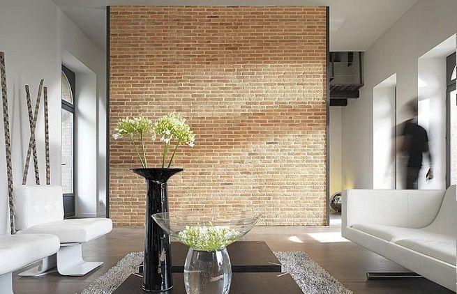 Ladrillo visto en paredes de interior deco pinterest - Aislamiento acustico paredes interiores ...