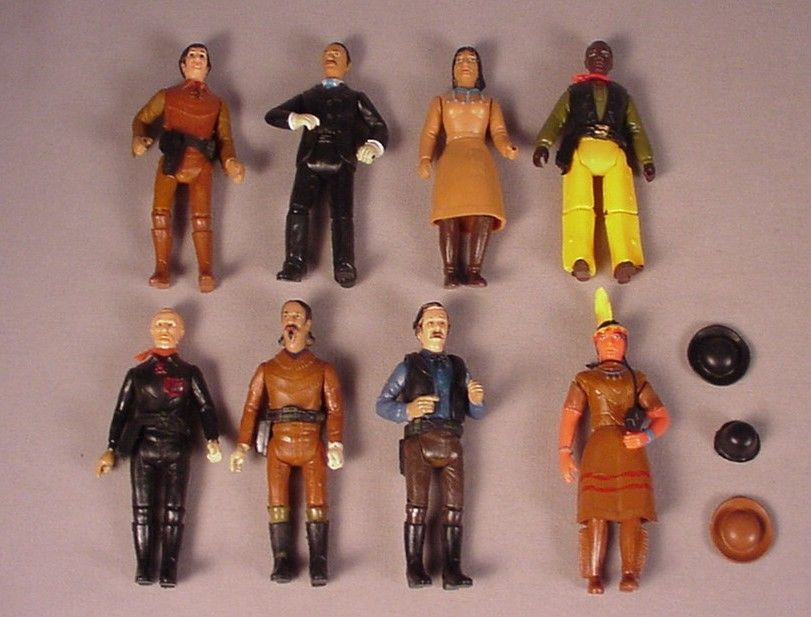 "1970's Empire Legends of West 8 action figures 4"" historic toys Cowboys Indians #Empire"
