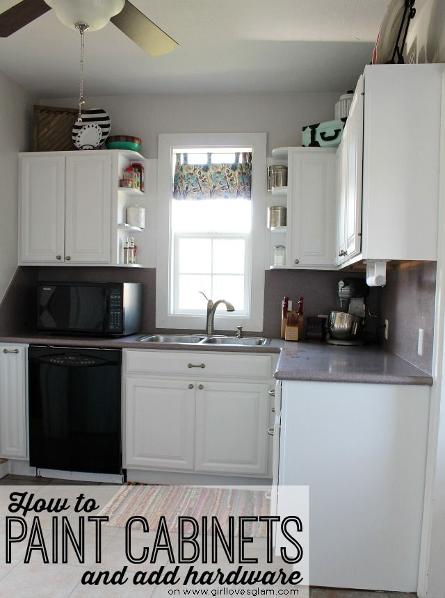 How To Paint Cabinets And Add Hardware Kitchen Makeover