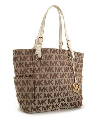 4f15d6e0c299 MICHAEL Michael Kors Handbag, Block Monogram Signature Tote - Handbags &  Accessories - Macy's