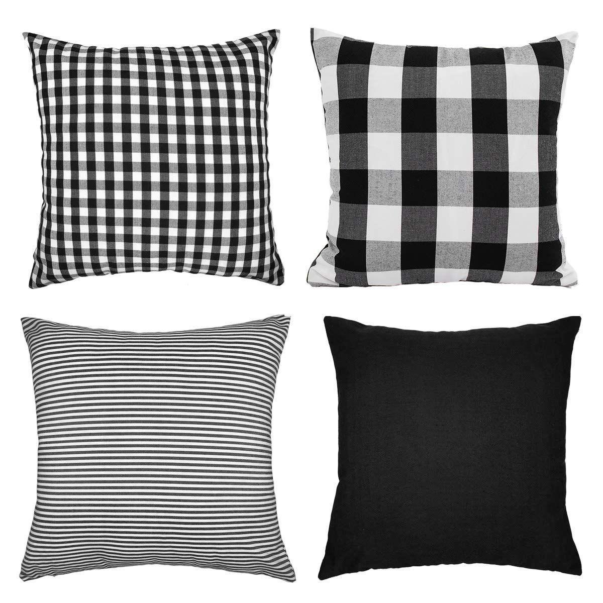 Buffalo Check: Black & White Year-Round Home Decor Ideas images