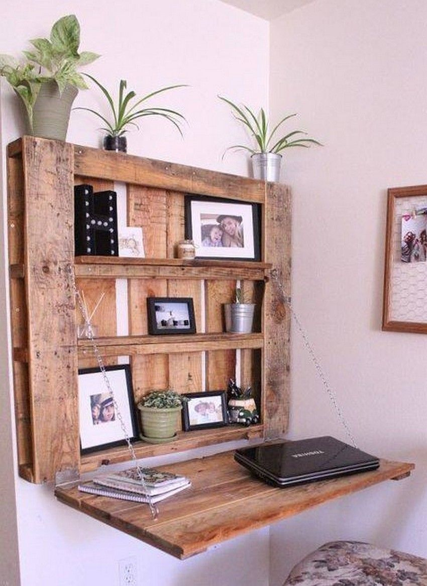 Awesome Diy Ideas With Used Shipping Wood Pallets Easy Pallet Projects And Diy Wood Pallets Ideas Pallet Home Decor Pallet Desk Diy Pallet Furniture