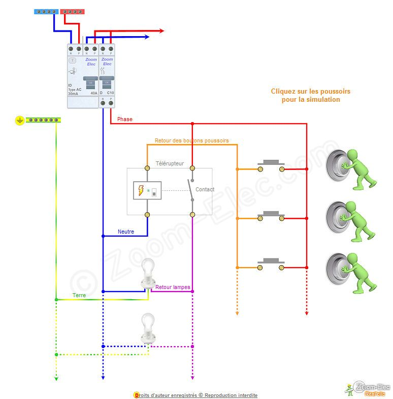 Fonctionnement telerupteur electrical installation pinterest electrique sch ma et lectricit - Schema d implantation electrique ...