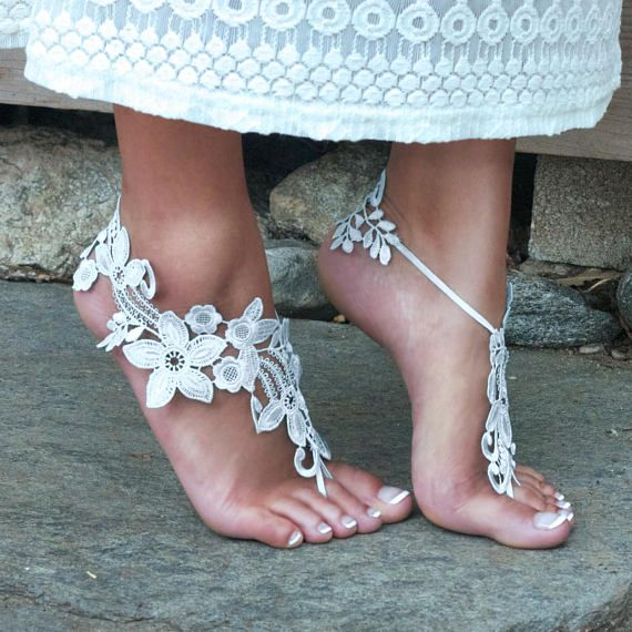 OFF-WHITE Barefoot Sandals Beach Wedding Boho Bride TIFFANY Bare Foot Sandels Maternity Shoe Pool Party Outdoor Festival Accessory Summer nous