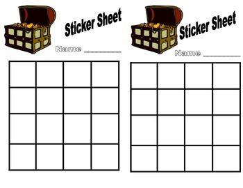 Rewards Sticker Stamp Sheets Classroom Reward System Classroom