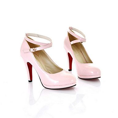 Shoes For Women Stiletto Heel Round Toe Pumps Heels Outdoor Office Career Casual Black Pink Red White