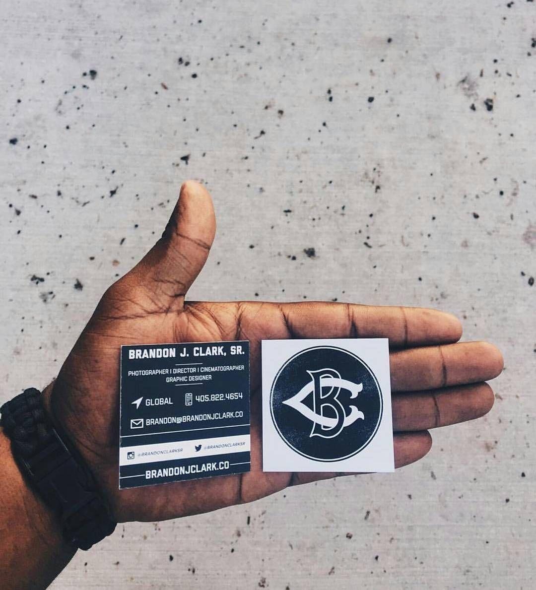 Brandon Clarke\'s epic black and white custom square business cards ...