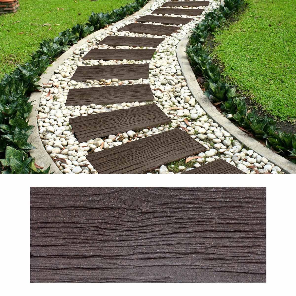 Dalle Exta C Rieure Imitation Bois Caoutchouc Recycla C 25x60cm Dalle Exterieur Dalle Jardin Jardins En Bois