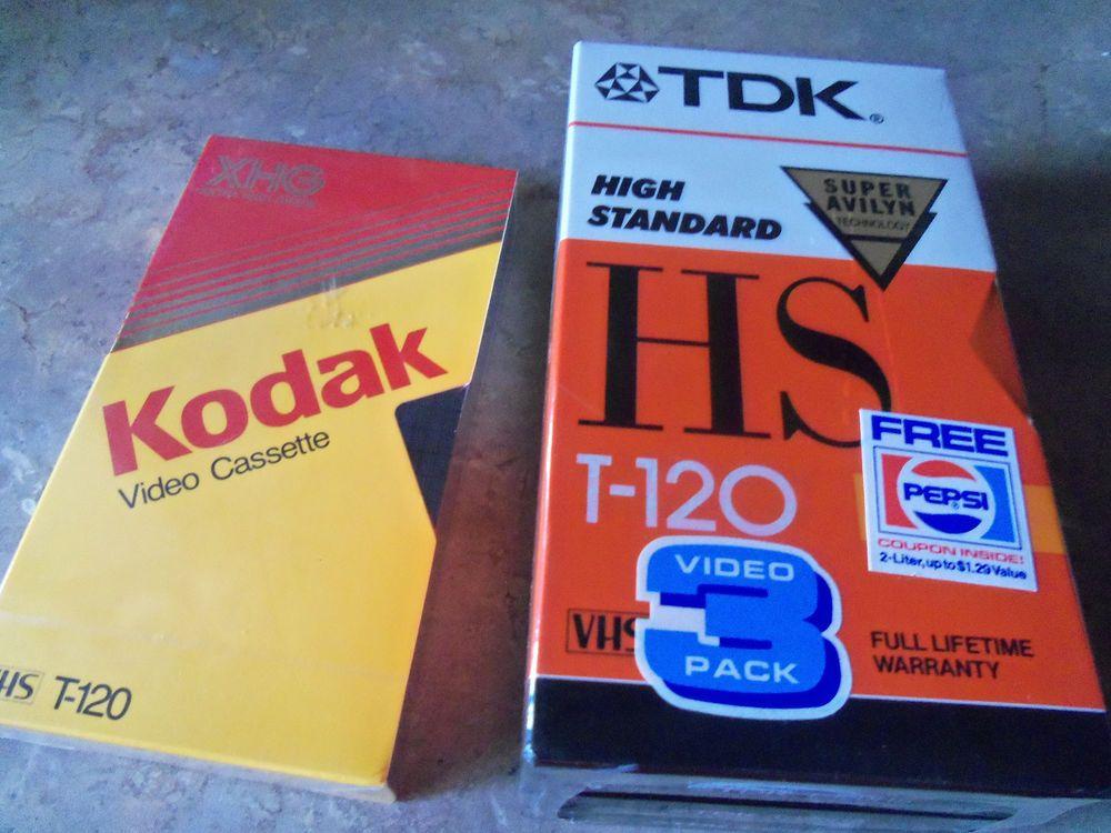 Kodak Pack of 3 High Grade T-120 Blank VHS Tape