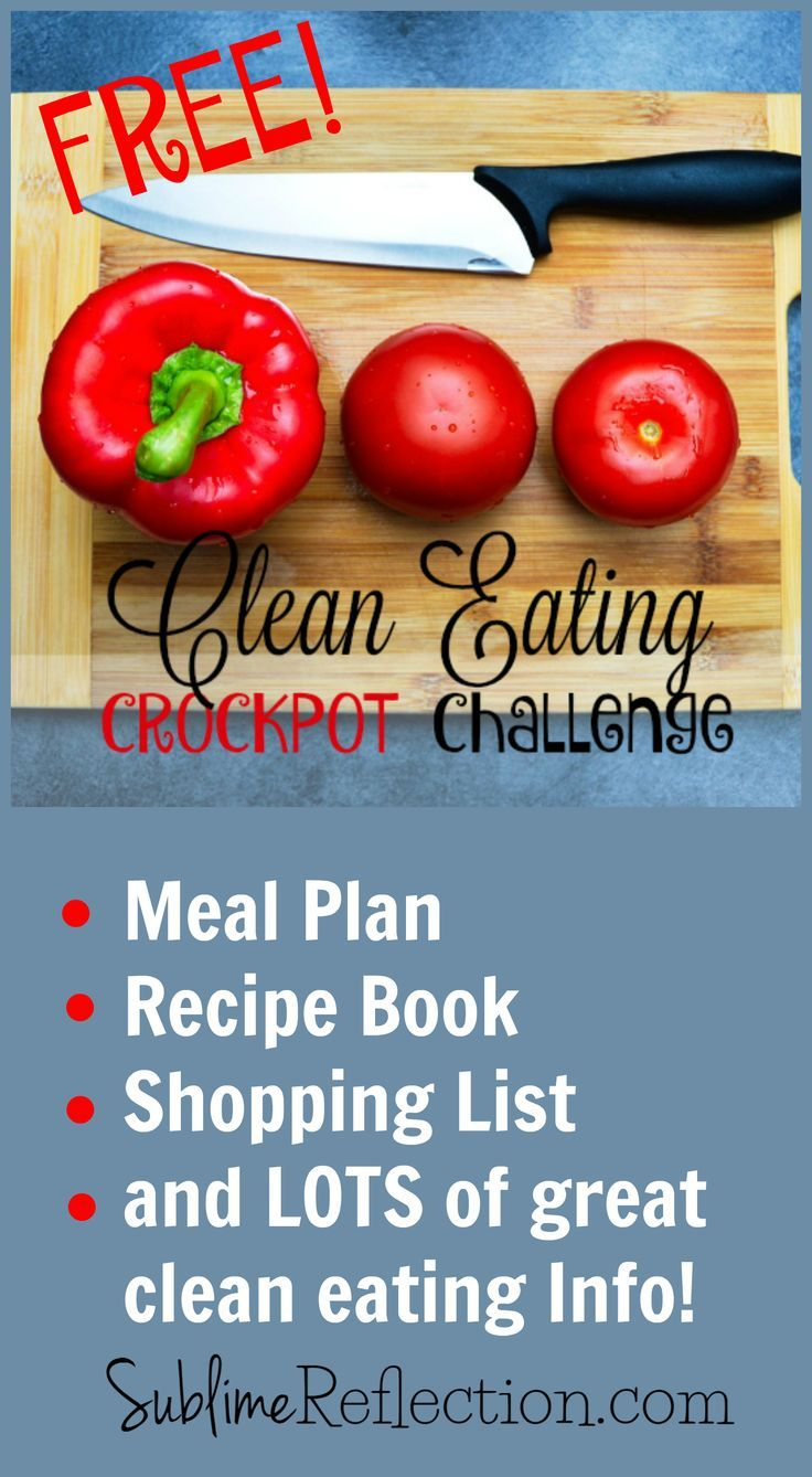 Need help making a clean eating lifestyle easier?  Join my free Crockpot Challenge!!