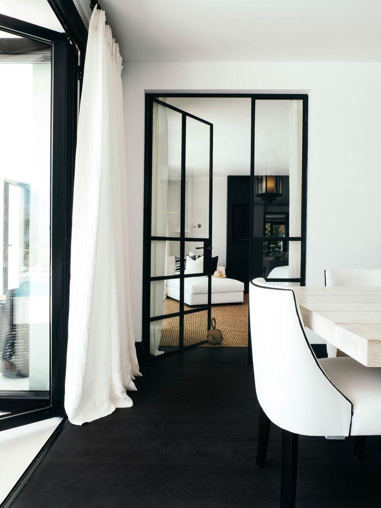 All Black White Interior Metal Framed Glass Doors Ds Area Rug