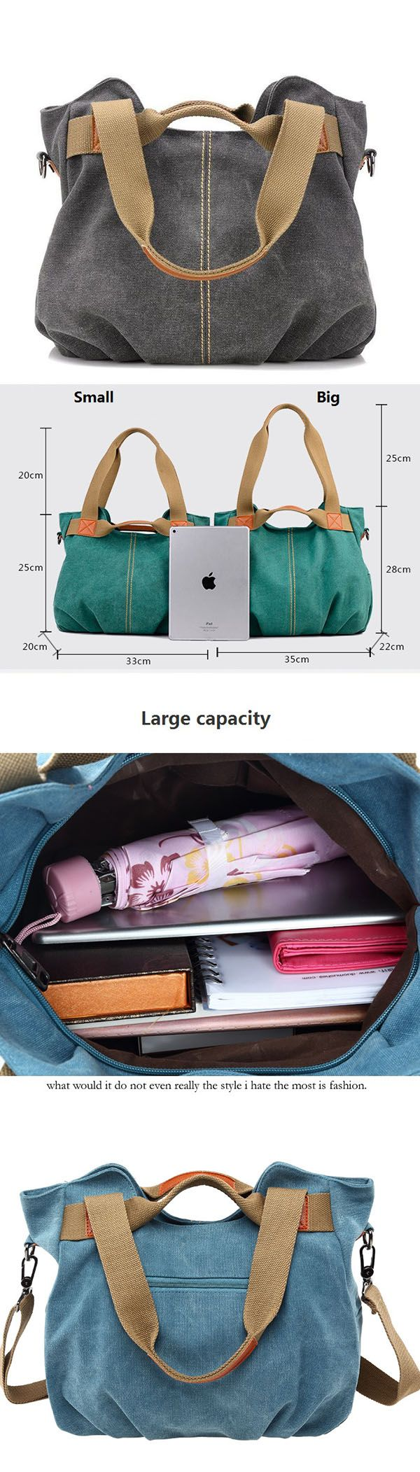 e8045ab8b8d7 Women s Vintage Canvas Shoulder Bag Purse Top-Handle Hobo Tote Handbags  Crossbody Shopping Bags