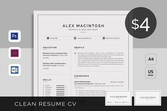Resume/CV by UX-group on @GraphicZN #RESUME #CV #COVER LETTER #MS