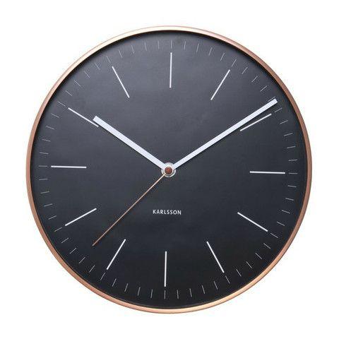Minimal Wall Clock In Copper Black Letliv Co Nz