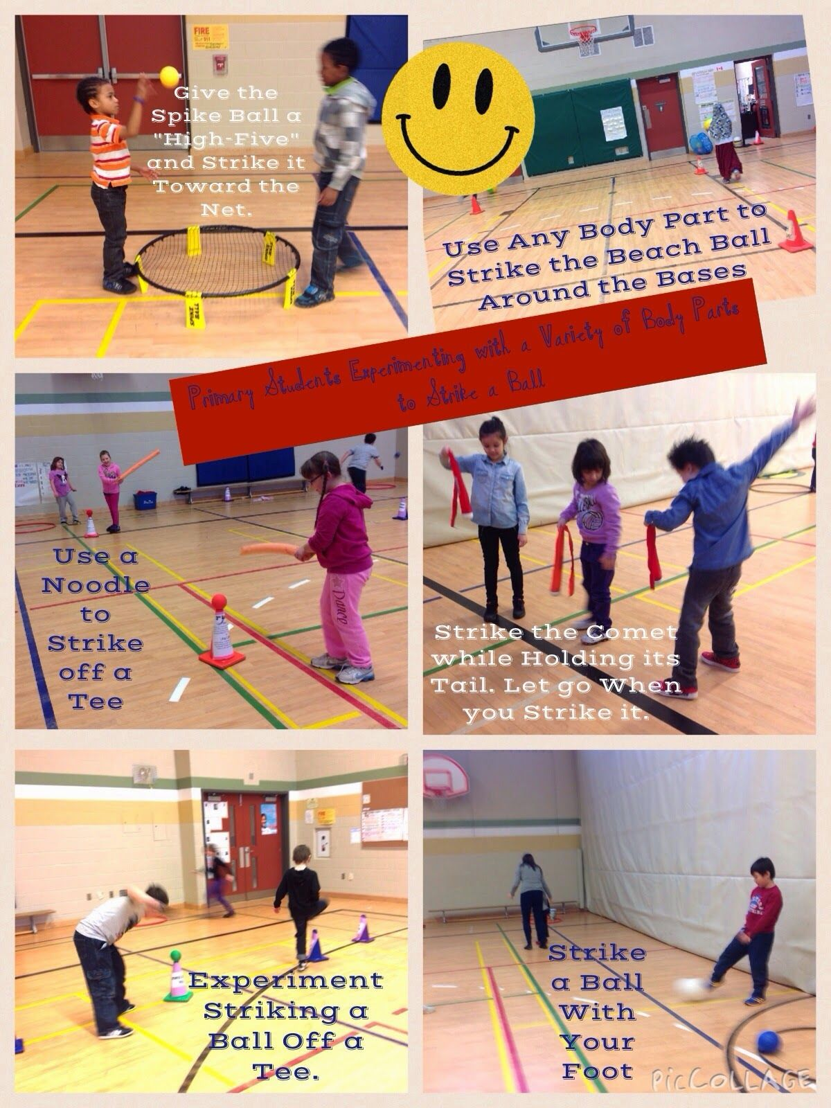 Hpe Merritt Health And Physical Education Striking And Fielding Pic Collage