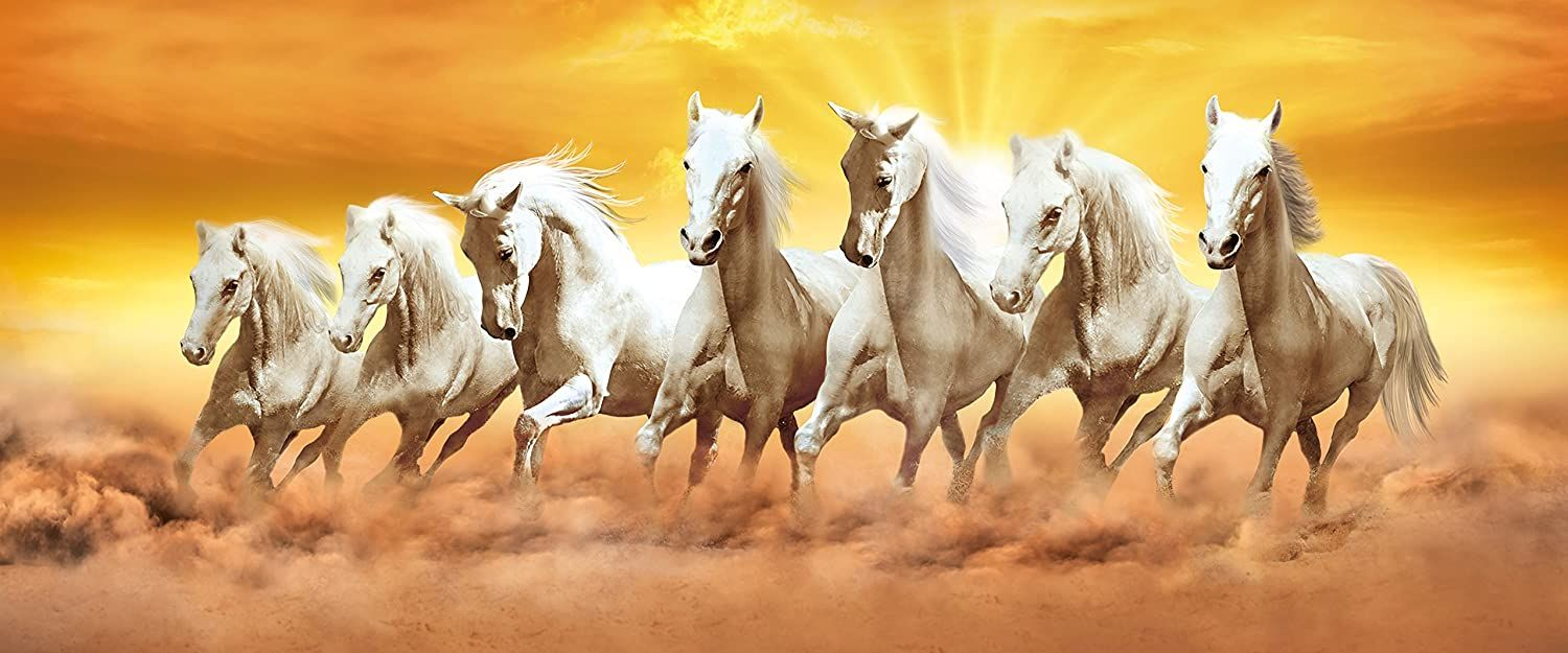 7 Horses Running Wallpaper Horse Painting Horse Wallpaper Horse Canvas Painting