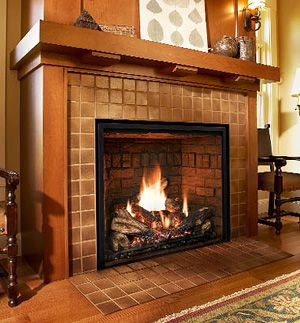 Mendota Fullview 33i Gas Fireplace Insert Fireplace Mantel