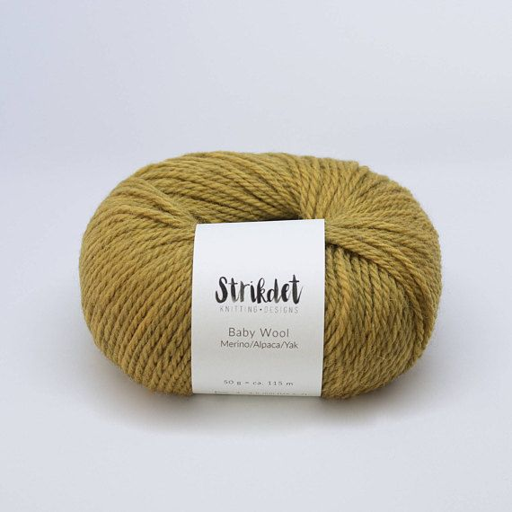 STRIKDET Baby Wool - curry