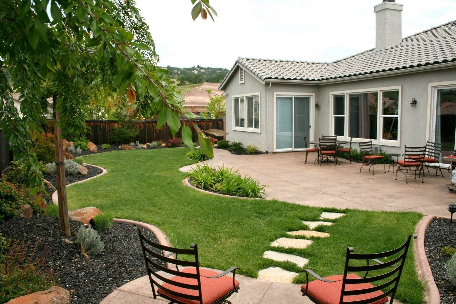 small Backyard landscaping canada in 16  Easy backyard