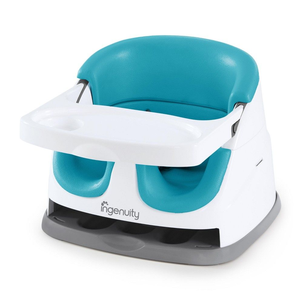 Ingenuity baby base 2in1 seat peacock blue baby seat