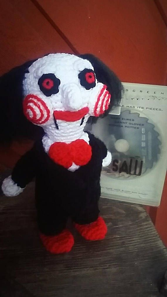 "Crochet Pattern for Jigsaw ""Billy"" from the Saw movies ..."