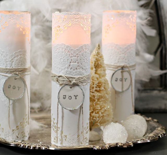How to make these candles from the dollar store stuff